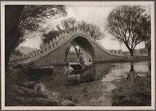 1920's CHINA GRAVURE PAGEANT OF PEKING DONALD MENNIE - BRIDGE AND LAKE