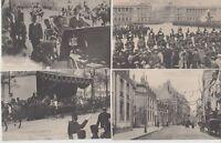 Great Britain Royalty Visit King George and Mary Paris 28 Vintage Postcards