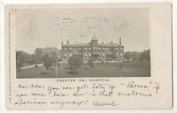 Chester PA Hospital - Vintage Early 1905 UDB Pennsylvania Postcard