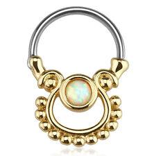Nasenpiercing Opal Imitat Septum Ring Vintage Tribal Nasenring Helix Piercing
