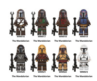 8 Pcs Minifigures The Mandalorian Star Wars Darth Maul Leia Baby Yoda Lego MOC
