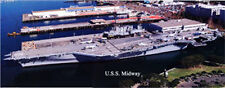 USS Midway Museum Aircraft Carrier San Diego California Aerial Panorama Poster23