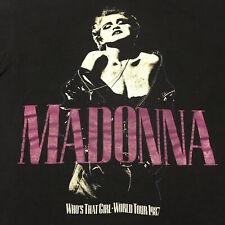 Vintage 1987 Madonna World Tour Black T-shirt Unisex All Size Cotton M1670