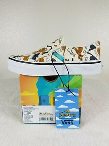 Vans New Classic Slip-On The Simpsons Family Pets Sneakers Youth Size USA 11.5