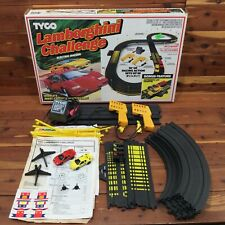 Vintage TYCO Slot Car Track / Lamborghini Challenge w/ Box & Cars!