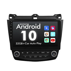 """For Honda Accord Android 10 10.1"""" IPS Car GPS Navigation Touch Screen Stereo DSP"""