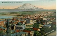 Divided Back Postcard 1907-1914 Mt Tacoma,aerial view of city Unused  C Teich