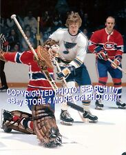 KILLER HOFer #29 Ken DRYDEN Just IN TIME Kick SAVE Montreal CANADIENS Blues 8X10