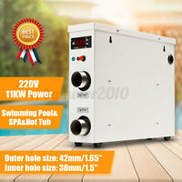 220V 11KW AC Electric Water Heater Thermostat Home Swimming Pool SPA Hot Tub