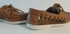 Sperry Top-Sider  Boat Shoe Loafer Size 6M   Brown Leather  Woven