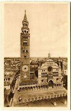 Primi '900 Cremona Duomo Torrazzo Piazza Paderno d'Adda Como FP B/N VG