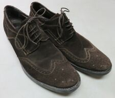 Alfani Mens Brown Leather Wingtip Oxfords Dress Shoes Sz 12 M Italy Suede Garth