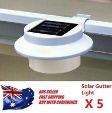 5X Solar Powered 3 LED Fence Gutter Light Outdoor Garden Pathway Lamp LED SLQ