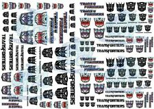 Transformers Decals | Waterslide Transfers for Model Cars in all scales