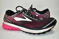 Brooks Ghost 10 Womens Running Shoes Black Plum Pink White Size 9.5 B DNA