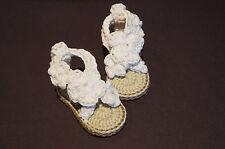 NEWBORN Crochet Baby Girl Heart Sandals baby's booties baby shoes handmade
