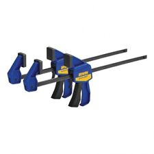 Irwin Tool Quick Grip Mini One Hand Bar Clamps 300 mm 12 Inch Pack of 2 Woodwork