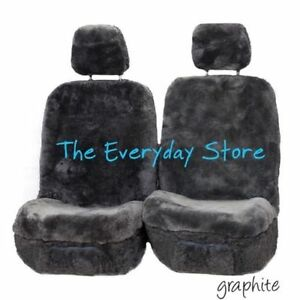Premium Sheepskin Seat Covers Fits Hyundai Sonata All Year Pair Airbag Safe 30MM