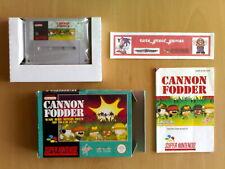 Game ☆ CANNON FODDER Super Nintendo SNES Super NES PAL ☆ VGC Very Rare