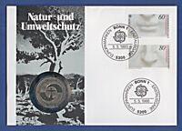 Numisbrief Natur- und Umweltschutz 5 DM 1982 Stempel 1986 #2067 NBA4/47