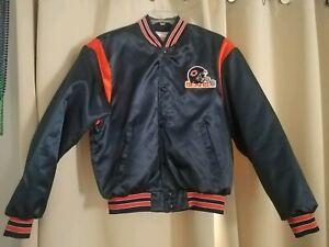Vintage Swingster Satin Nylon Bomber Jacket Chicago Bears NFL Size Medium
