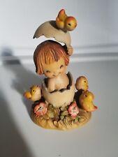 """Anri Ferrandiz Girl in the Egg 6"""" wood carving"""