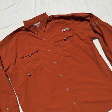 Columbia Pfg Mens Xl Omni-Shade Vented Long Sleeve Fishing Shirt Tab Sleeve