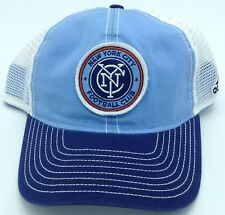 premium selection 0e7a7 d58a3 MLS New York City FC Adidas Snap Back Mesh Back Cap Hat Beanie Style  EX57Z