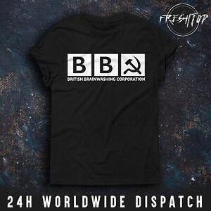 BBC T Shirt Brexit British Brainwashing Corporation Boris Johnson Jeremy Corbyn