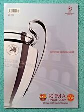2009 - CHAMPIONS LEAGUE FINAL PROGRAMME - BARCELONA v MANCHESTER UTD