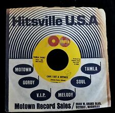 Marvin Gaye Tamla 54087 Can I Get A Witness and I'm Crazy 'Bout My Baby EX STOCK