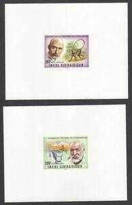 Central African Republic #293-4/C180-2 Nobel Prize 1977 set of 5 proof cards