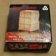 Tarogo Metal & Paper KOSHI Table Lamp Zen Lantern Feng Shui New in Box Lt. Blue