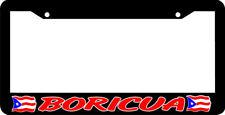 BORICUA  PUERTO RICO RICAN FLAG  License Plate Frame