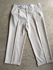 Brioni Mens Cream Beige Pleated Dress Pants Size 38x27 Super 120's Wool Italy