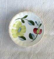Blue Ridge Pottery Edgemont Berry Bowl Green and Red Flowers Leaves Vintage