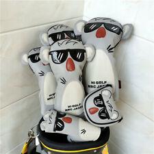 Koala Wood Head Covers 460cc Driver Fairway Woods Hybrid Putter Golf Club Cover