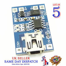 5x 18650 5V Mini USB Lithium Battery Charger Board Module 1A
