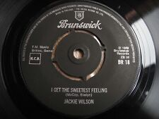 """JACKIE WILSON, I GET THE SWEETEST FEELING/HIGHER AND HIGHER, UK BRUNSWICK 7"""" 45"""
