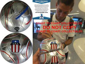 Clint Dempsey autographed World Cup USA soccer Ball exact proof Beckett COA