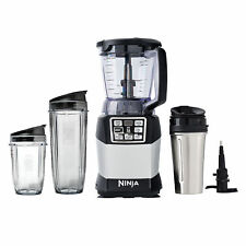 Nutri Ninja Auto iQ Compact Blender Processor Kitchen System Bundle with Cups