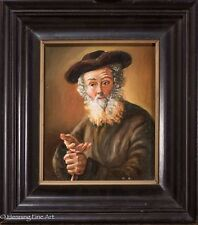 Excellent German Portrait Oil Painting, Illegibly Signed, Well Executed!