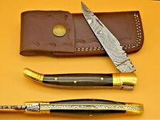 Taschenmesser-Laguiole-Damastmesser-Jagdmesser-Klappmesser -Holzgriff- (AB911)