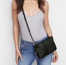 Victoria's Secret Black Quilted Crossbody Bag Purse New