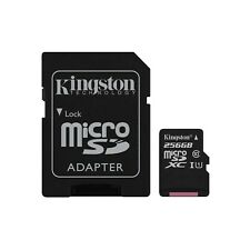 Kingston Tela Select (256gb) MicroSD tarjeta clase 10 uhs-1 U1 con adaptador