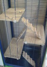 3 x REPLACEMENT PINE RAMPS & 3 X PINE SHELVES FOR TALL CAGE NLC59 AS PICTURED