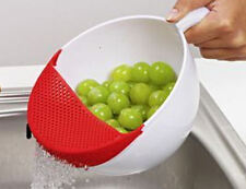Abschüttschüssel Schüssel Abtropf-Schüssel Abseiher Seiher Sieb Gemüse Obst NEU