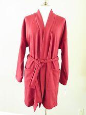 UGG Braelyn Double Knit Fleece Women's Wrap Robe Red Heather L NWT