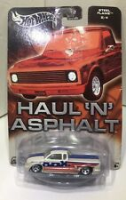 Hot Wheels Haul N Asphalt Steel Flame Pickup Truck Chevy GM Stars & Stripes NEW