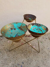 Mid-Century Metal Plant Stand for Restoration